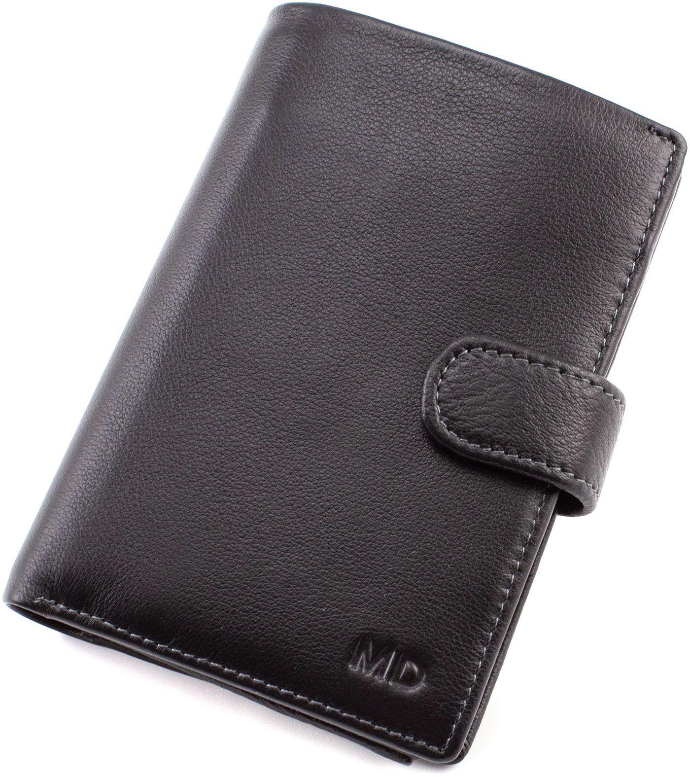 575f25ed17a9 Кожаный вертикальный кошелек с блоком для документов MD Leather (16578)