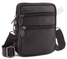 bc837d3b620a Небольшая кожаная сумочка на пояс и через плечо Leather Collection (10043)