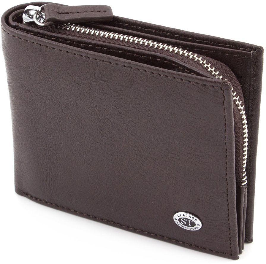 7af822b4adca Оригинальный кожаный кошелек на кнопках ST Leather (18836) купить в ...