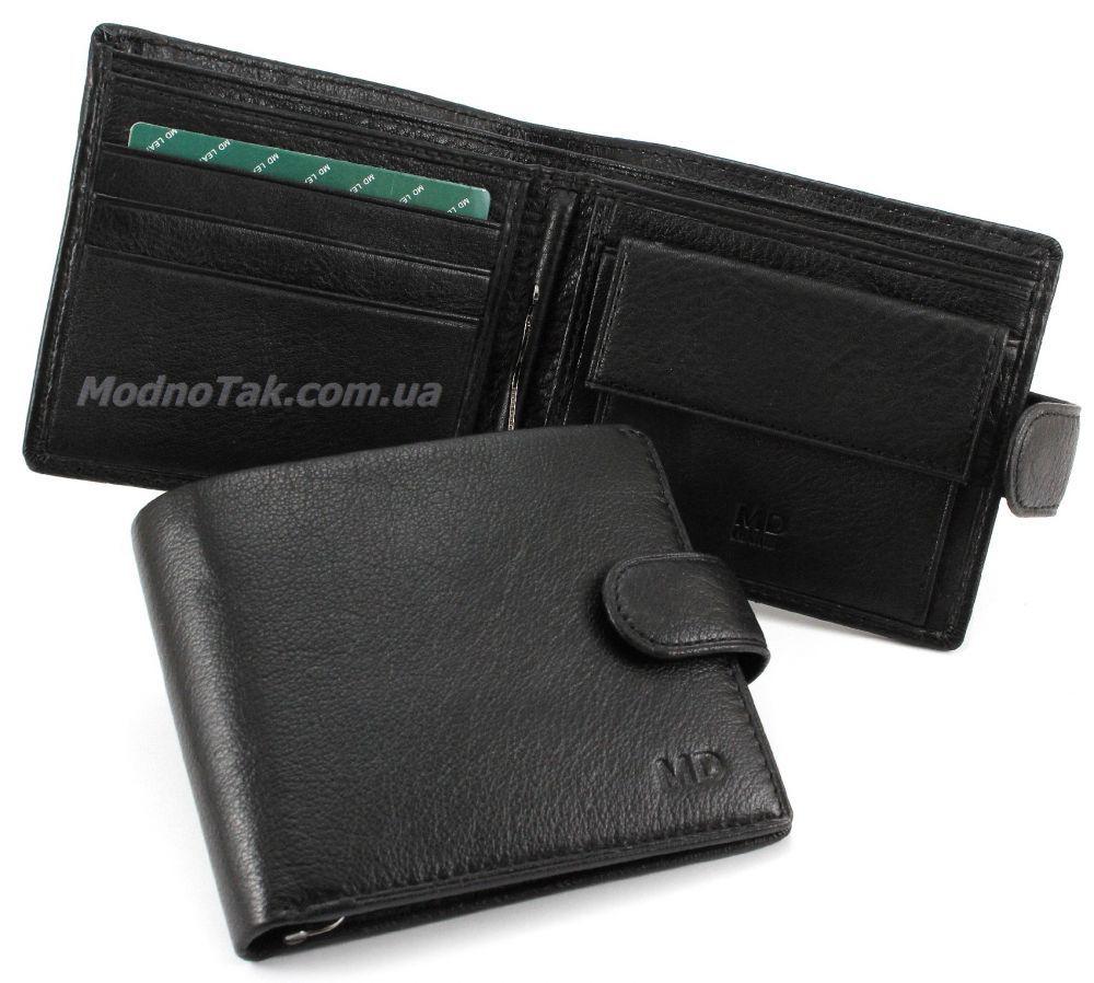 a8f9c3448dce Классический мужской бумажник из натуральной кожи с зажимом для денег MD  Leather Collection (18072)