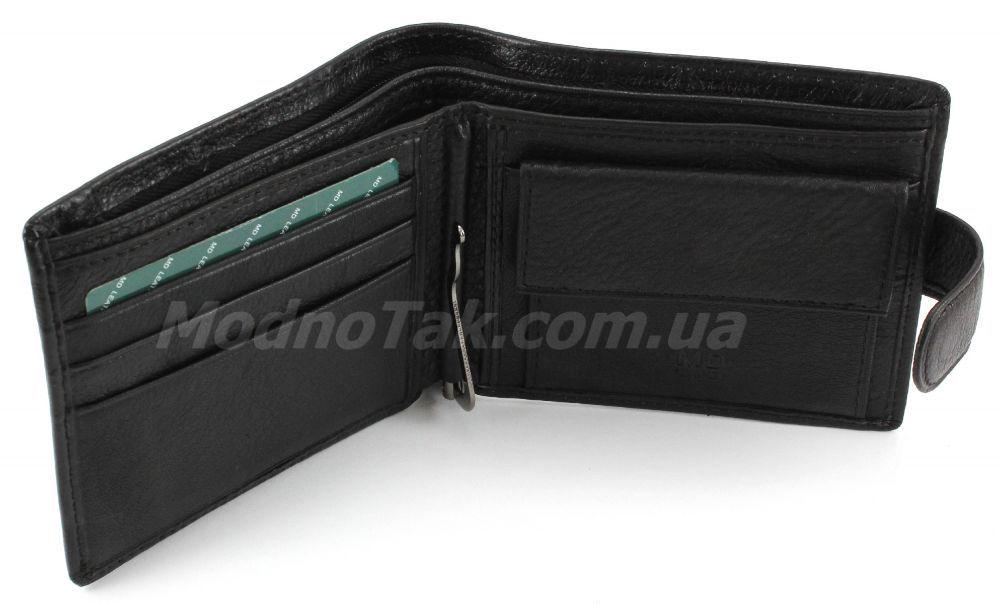 4238a52449c6 Классический мужской бумажник из натуральной кожи с зажимом для денег MD  Leather Collection (18072)
