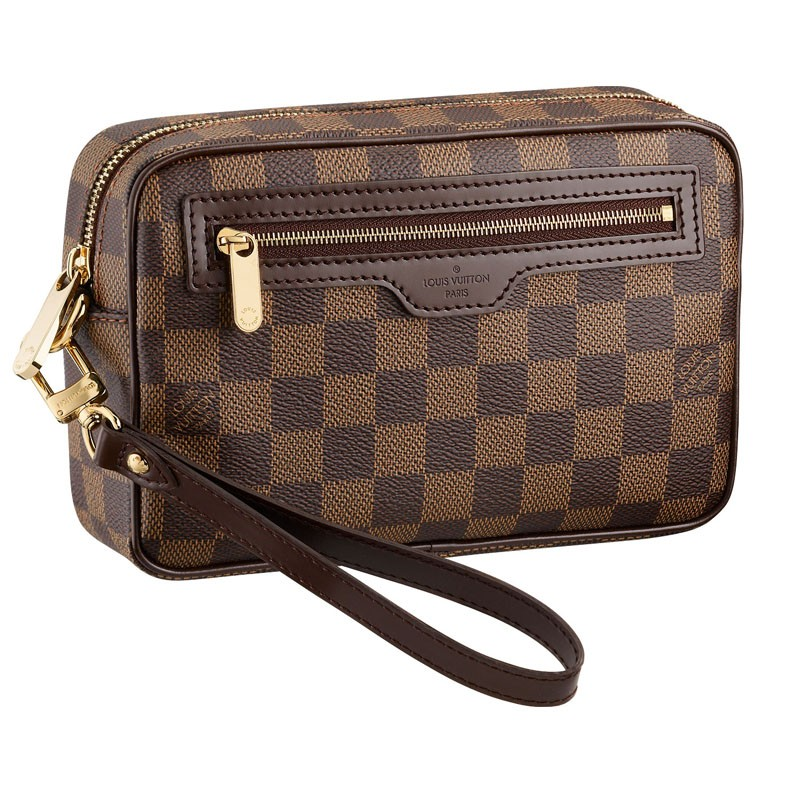 Барсетка мужская Louis Vuitton Canvas Macao Clutch (N61739)