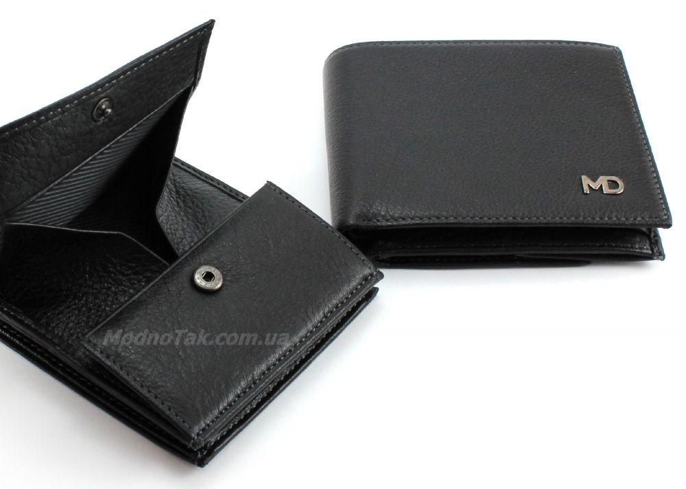 5ce6d81e4124 Оригинальный мужской кожаный кошелек под кредитные карточки и с интересной  монетницей MD Leather Collection (18074