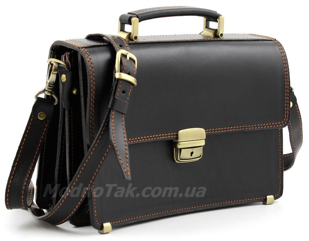 70b7d787b924 Мужской малый портфель ручной работы из натуральной итальянской кожи (10418)