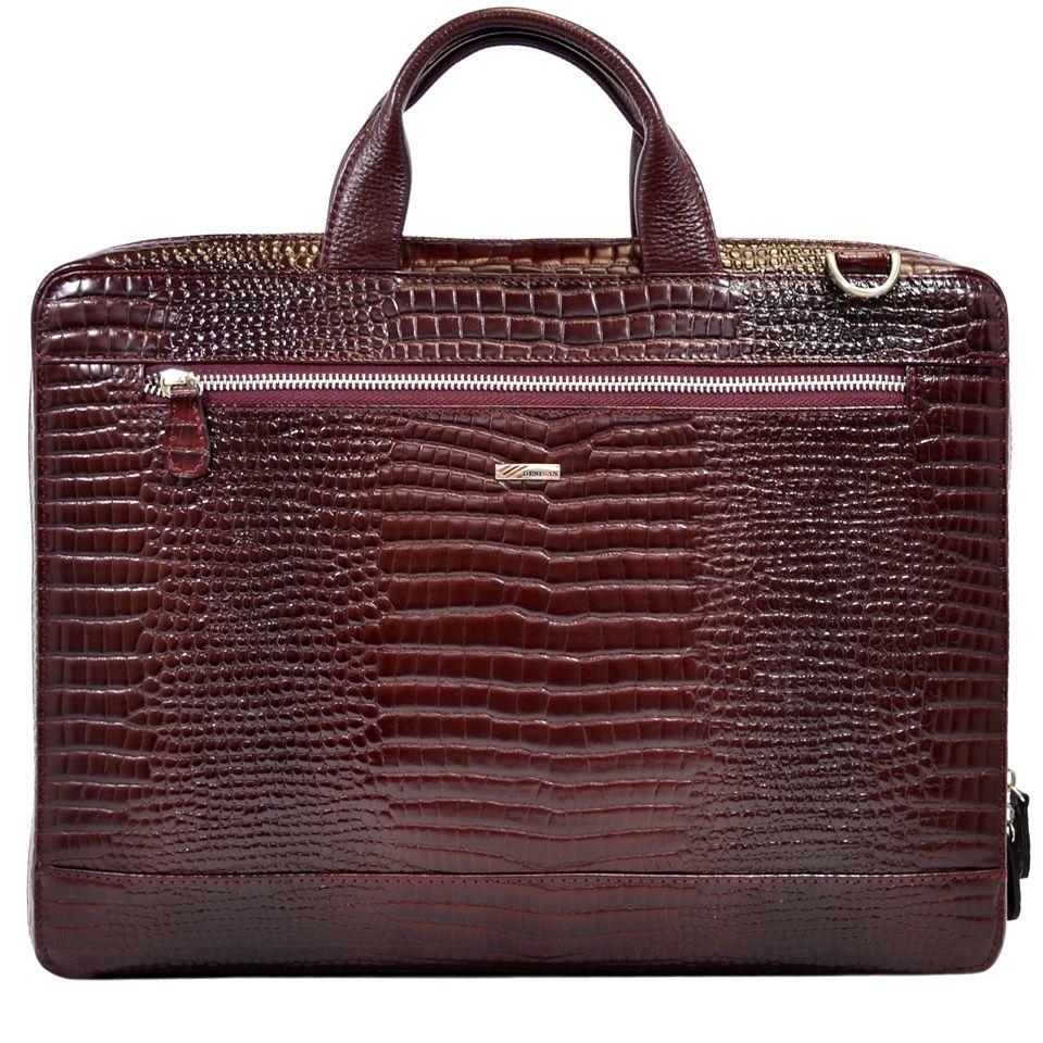 ea168918c5e8 Кожаная сумка с тиснением под кожу крокодила Desisan (11635) купить ...