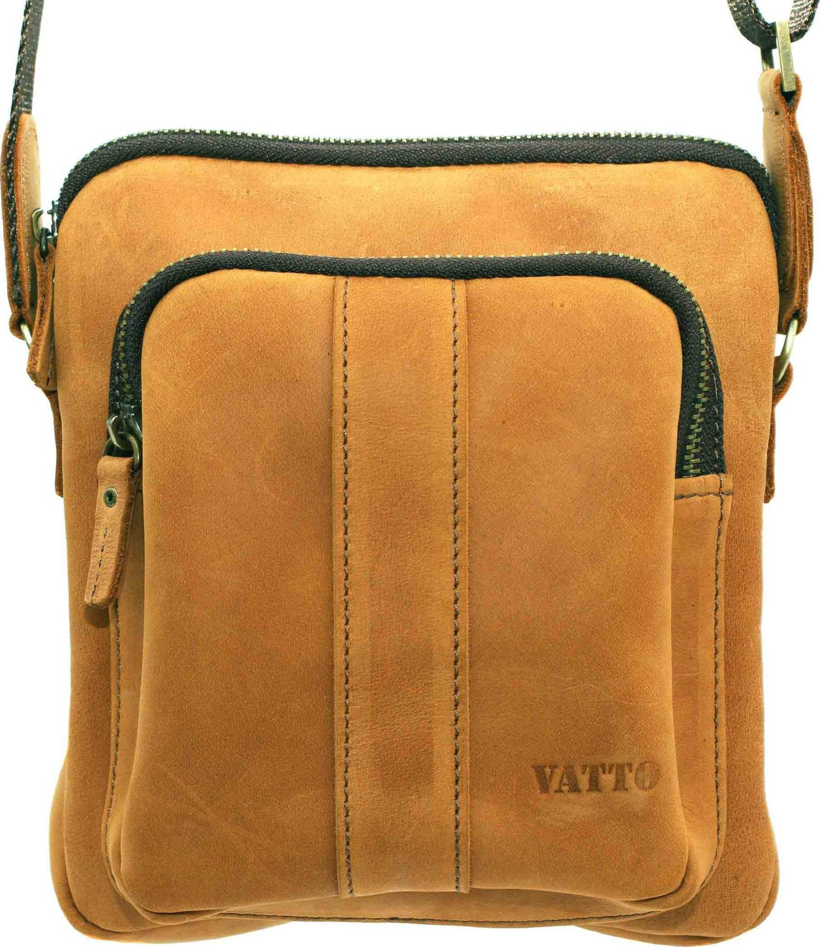 ec085ff900d6 Маленькая мужская сумка рыжего цвета VATTO (12089) купить в Киеве ...
