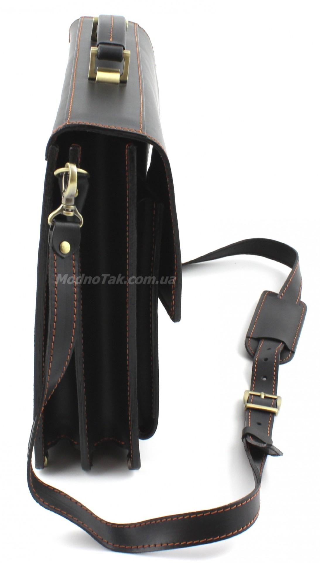 b00b144e99f5 Презентабельный мужской портфель ручной работы из натуральной крепкой кожи  (10412)
