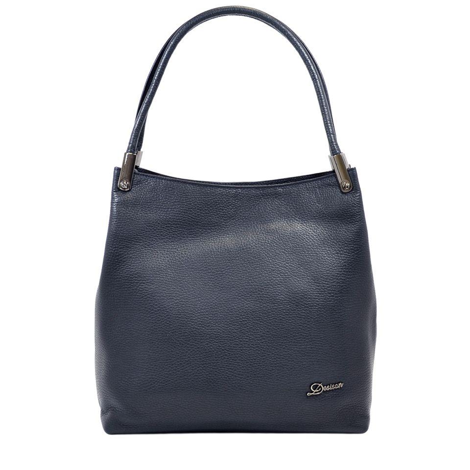 6acfdfecfa54 Синяя женская сумка из натуральной кожи с ручками Desisan (28311 ...