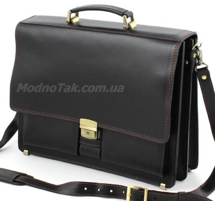 20d250bb28ab Практичный портфель мужской кожаный со съемным плечевым ремнем –  натуральная ...