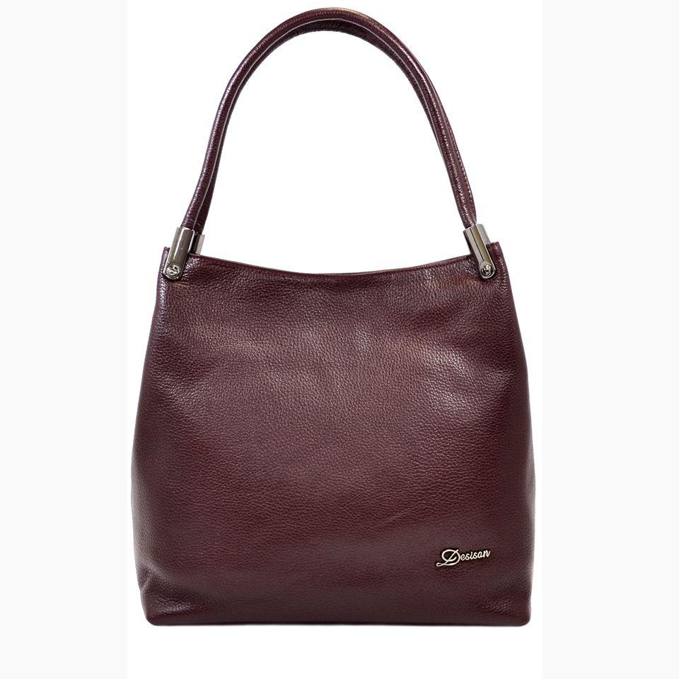 35d21e221b6e Бордовая кожаная сумка турецкого бренда Desisan (28312) купить в ...