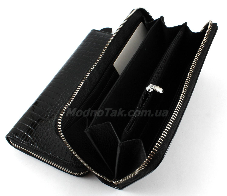8b40d660b91b Большой женский лакированный кожаный кошелек на молнии Salfeite (17146)