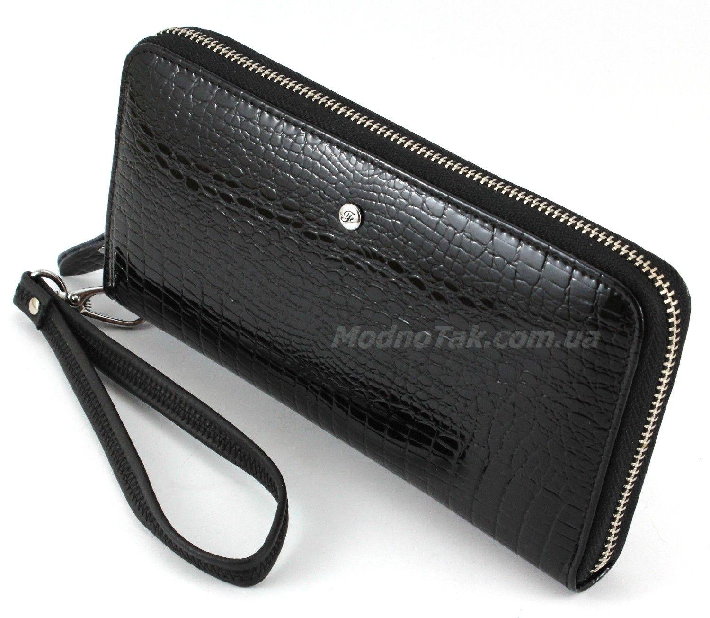 17f5a70754e5 Большой женский лакированный кожаный кошелек на молнии Salfeite (17146)