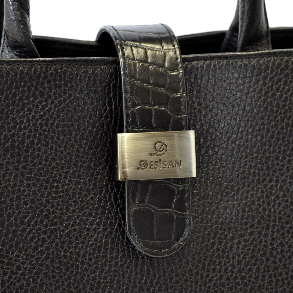 6bfa7247942e Черная женская сумка из турецкой кожи Desisan (28303) купить в Киеве ...