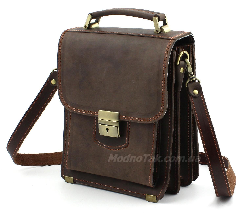 c0c1b9e30a44 Эксклюзивная мужская сумка из натуральной итальянской кожи Crazy Horse –  Старинная Италия (10165)