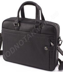 b58e9c265855 Деловая кожаная сумка для ноутбука и документов формата А4 H.T Leather  (10159)
