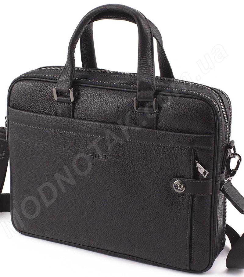 86696e580bc7 Деловая кожаная сумка для ноутбука и документов формата А4 H.T Leather  (10159)