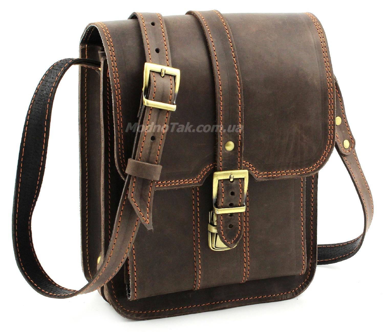 Элитная винтажная мужская сумка из итальянской кожи Crazy Horse –  «Старинная Италия» (10009) c832a03737d