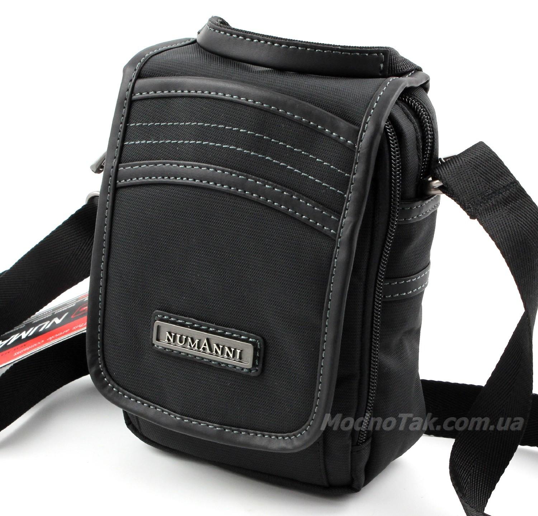 ab20dd1c70c8 Мужская вертикальная текстильная наплечная сумка с возможностью носить на  поясе NUMANNI (3152)