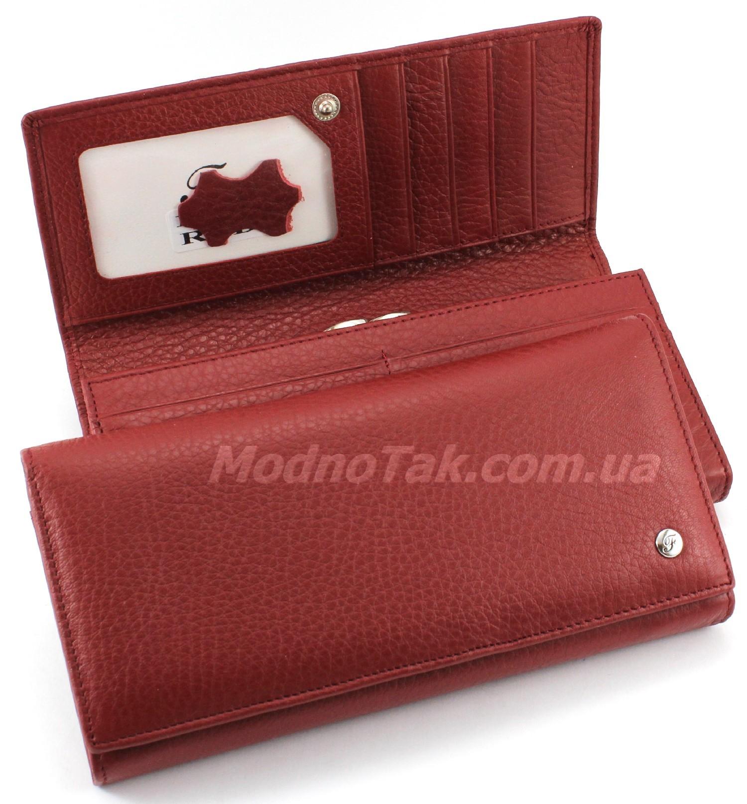 51f0f839201c Женские кожаные кошельки с монетницей «поцелуйчик» -- купить ...