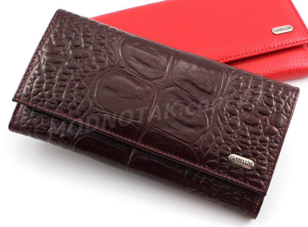 f9f2a48ddba0 Элитный женский кожаный кошелек с дополнительным блоком под много карточек  Canpellini (Турция) (17411)