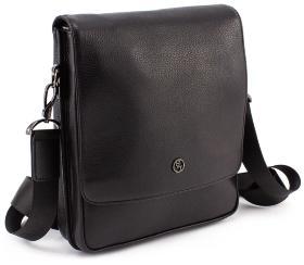 313fe28d8800 Вместительная кожаная мужская сумка средних размеров H.T Leather (10011)