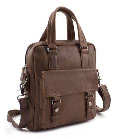 f42edc66ed58 Мужская кожаная сумка-мессенджер коричневого цвета для 10-дюймового  планшета - KLEVENT (10130