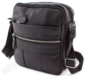 758a4e455ac0 Кожаная наплечная сумка с двумя отделениями Leather Collection (11525)