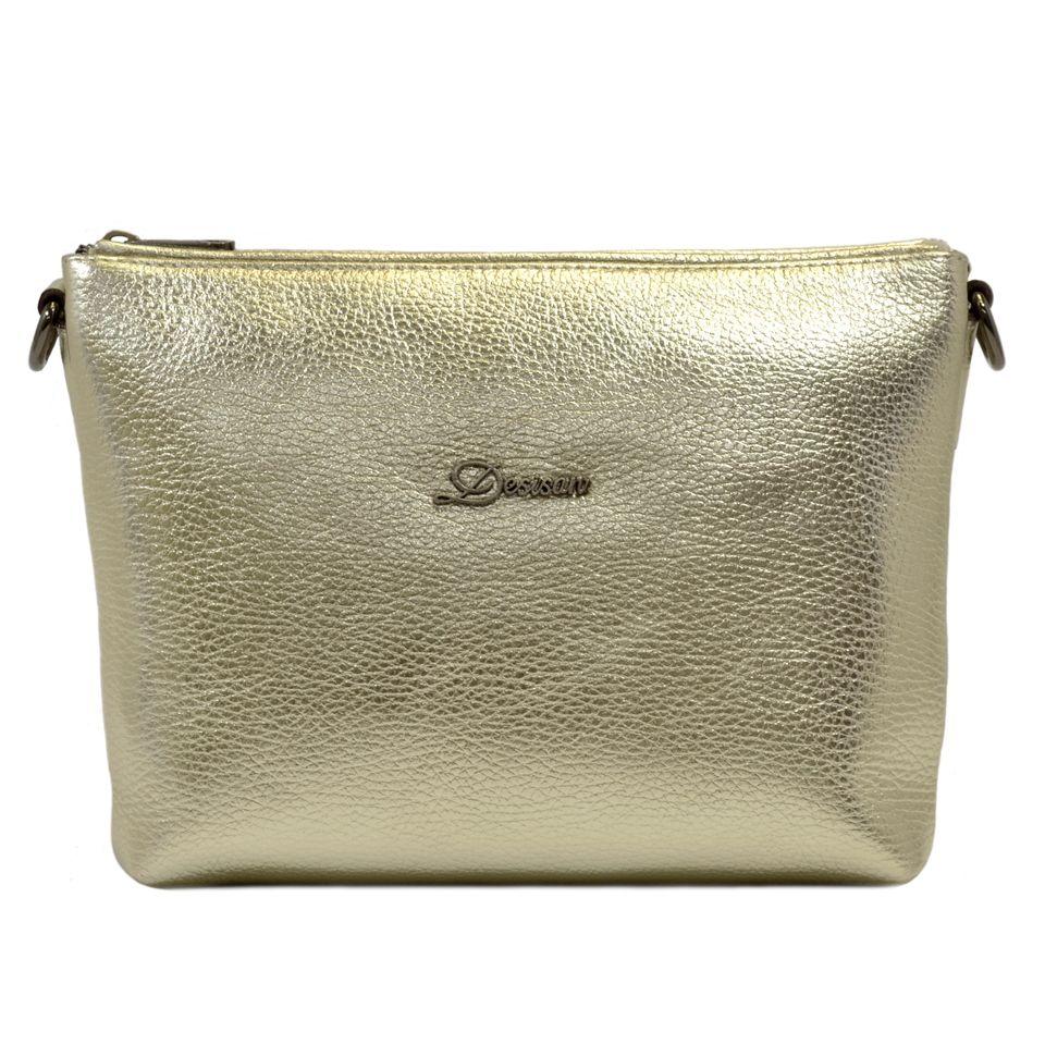 Женская золотистая кожаная сумка на плечо Desisan (28307) купить в ... 3bbbec9d331