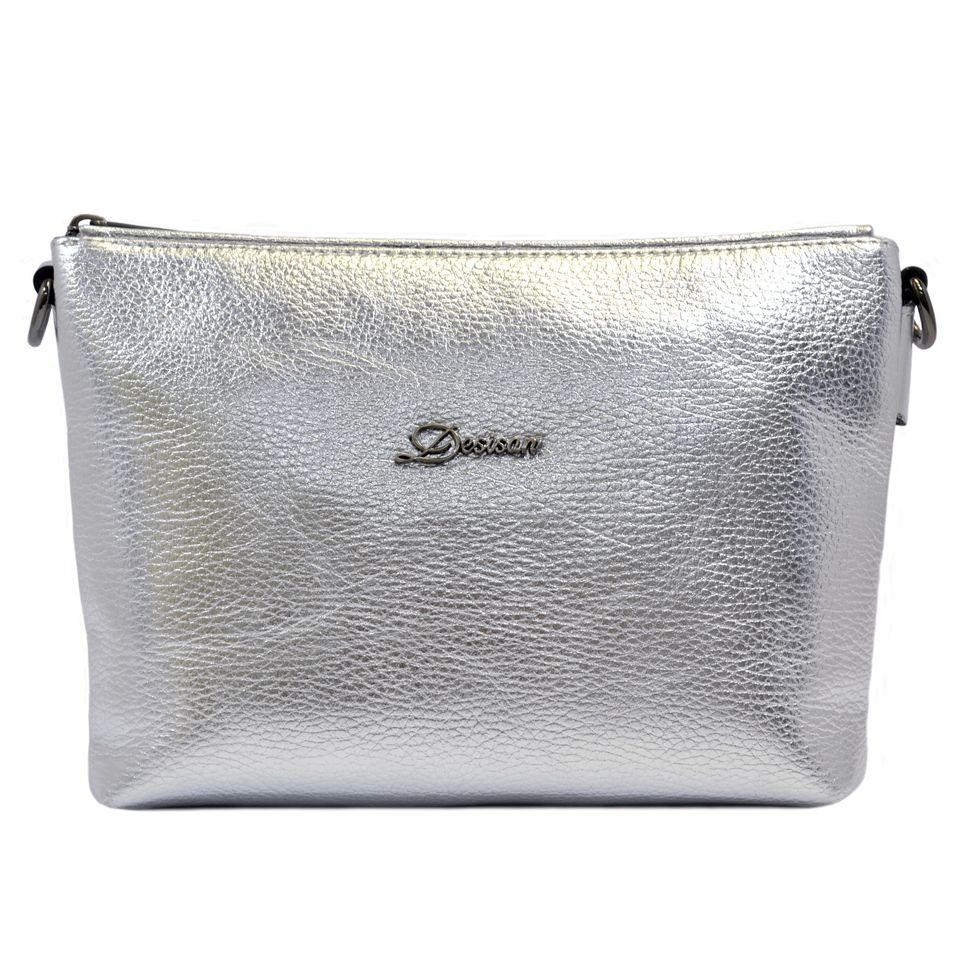 8939d6a3b63e Женская серебристая сумка из натуральной кожи Desisan (28308) купить ...