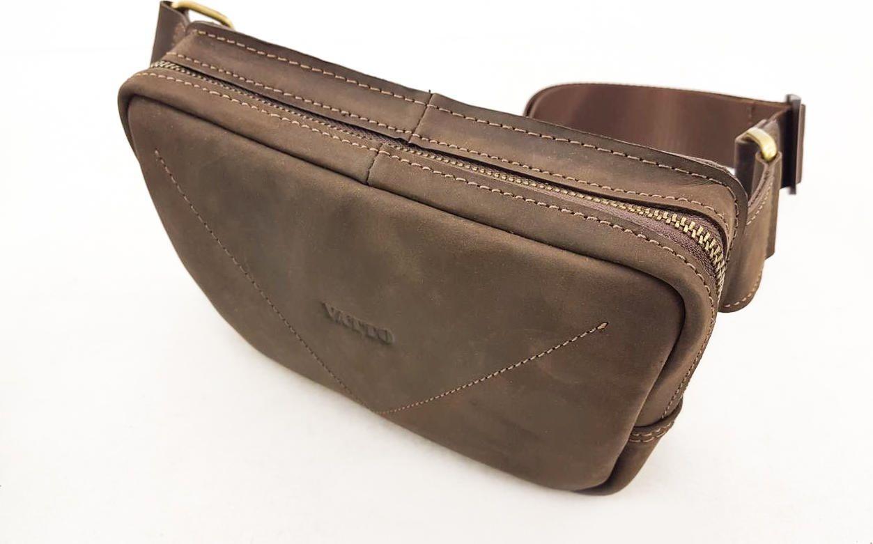 Мужская сумка на пояс коричневого цвета VATTO (11801) купить в Киеве ... c9fb26d3dbb