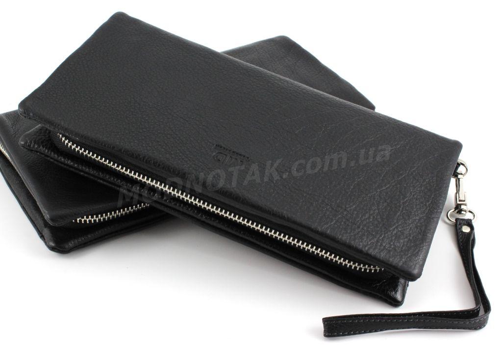 9171498597e0 Многофункциональный мужской вместительный кожаный клатч-барсетка на молнии  MD Leather Collection (18755)