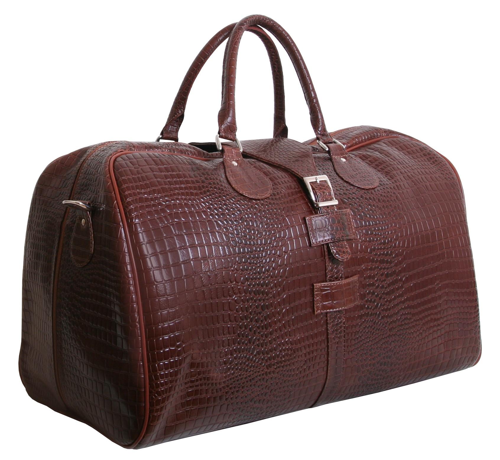 fcfd71de7308 Кожаная дорожная сумка люкс сегмента в стиле рептилии от бренда VIP  COLLECTION (0-2005)