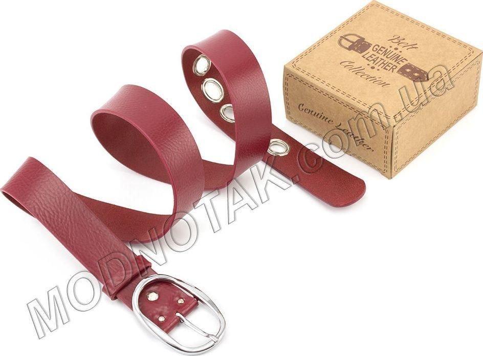 ae5f0d16af47 Кожаный итальянский ремень красного цвета Gherardini (16491) купить в  Киеве, цена | MODNOTAK