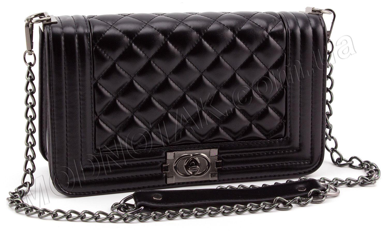 0744196d4ac5 Женская недорогая прямоугольная сумочка на цепочке в стиле Chanel (28051)