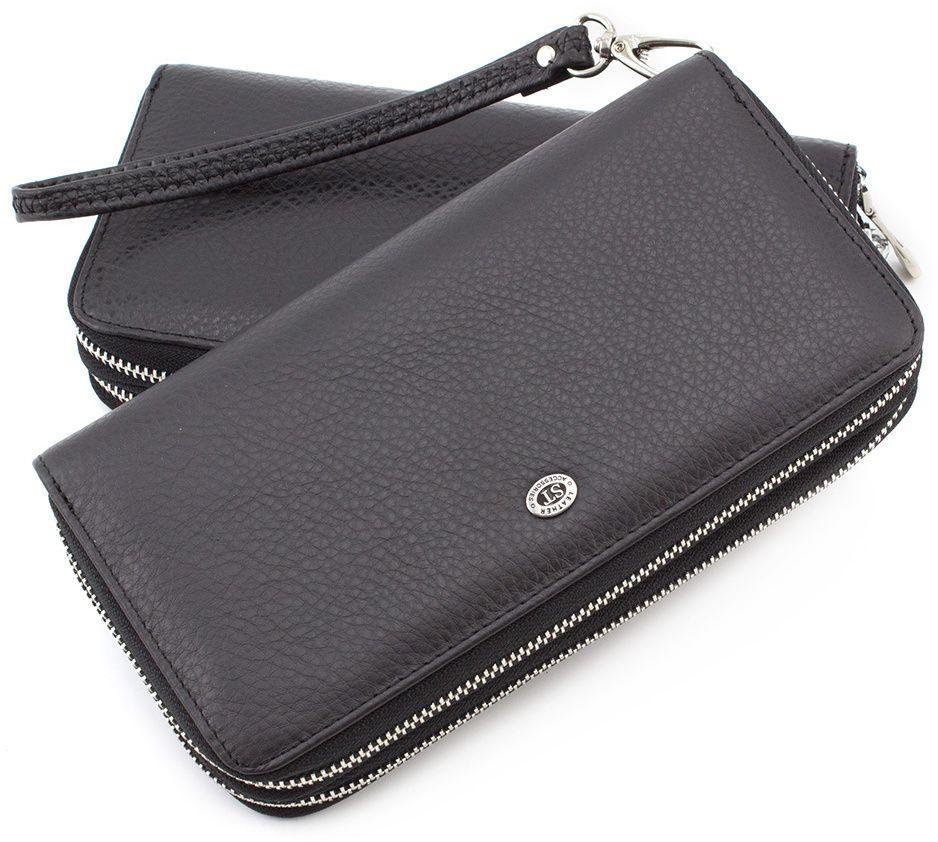 f71fdac06709 Черный мужской кошелек-клатч на две молнии ST Leather (18846) купить ...