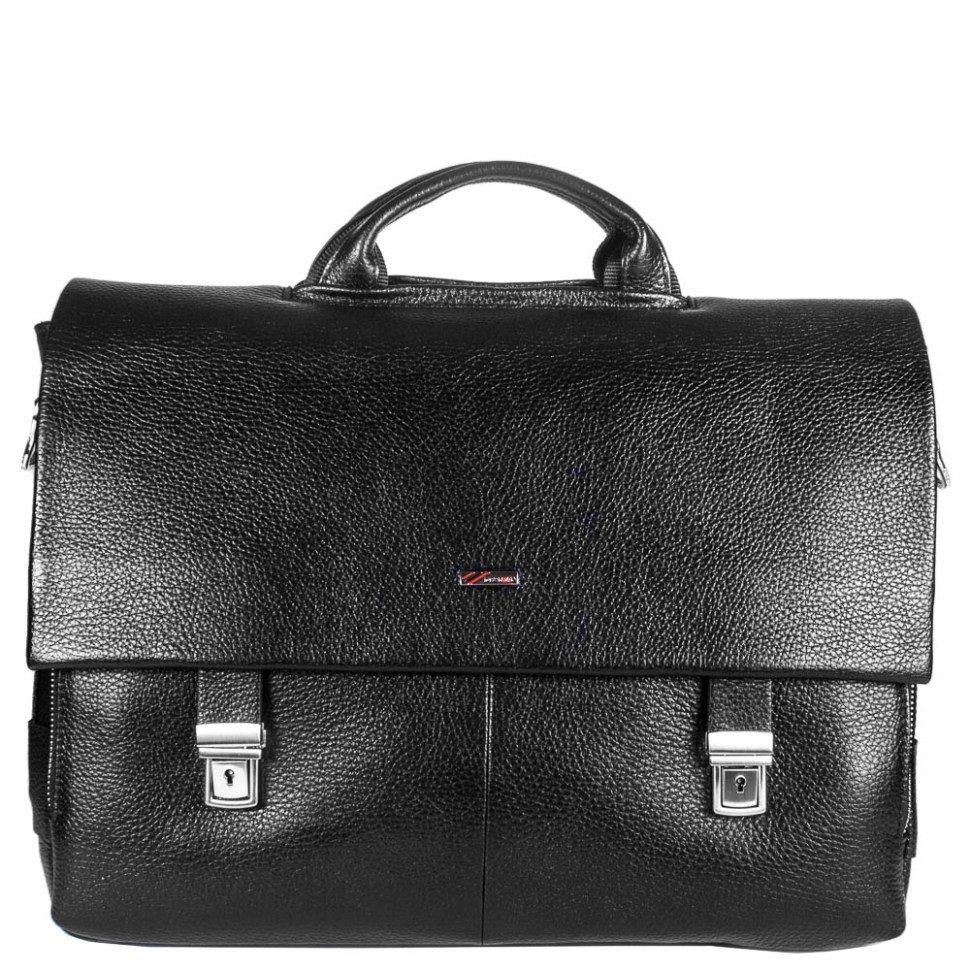 3c84aa8f7ba5 Мужской черный портфель с отделением для ноутбука - DESISAN (11599 ...