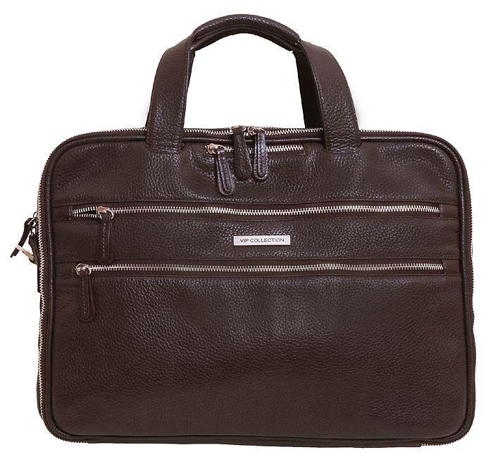 6accf9741d41 Кожаная элитная сумка для ноутбука 15,6 дюймов от VIP COLLECTION (0-2012)