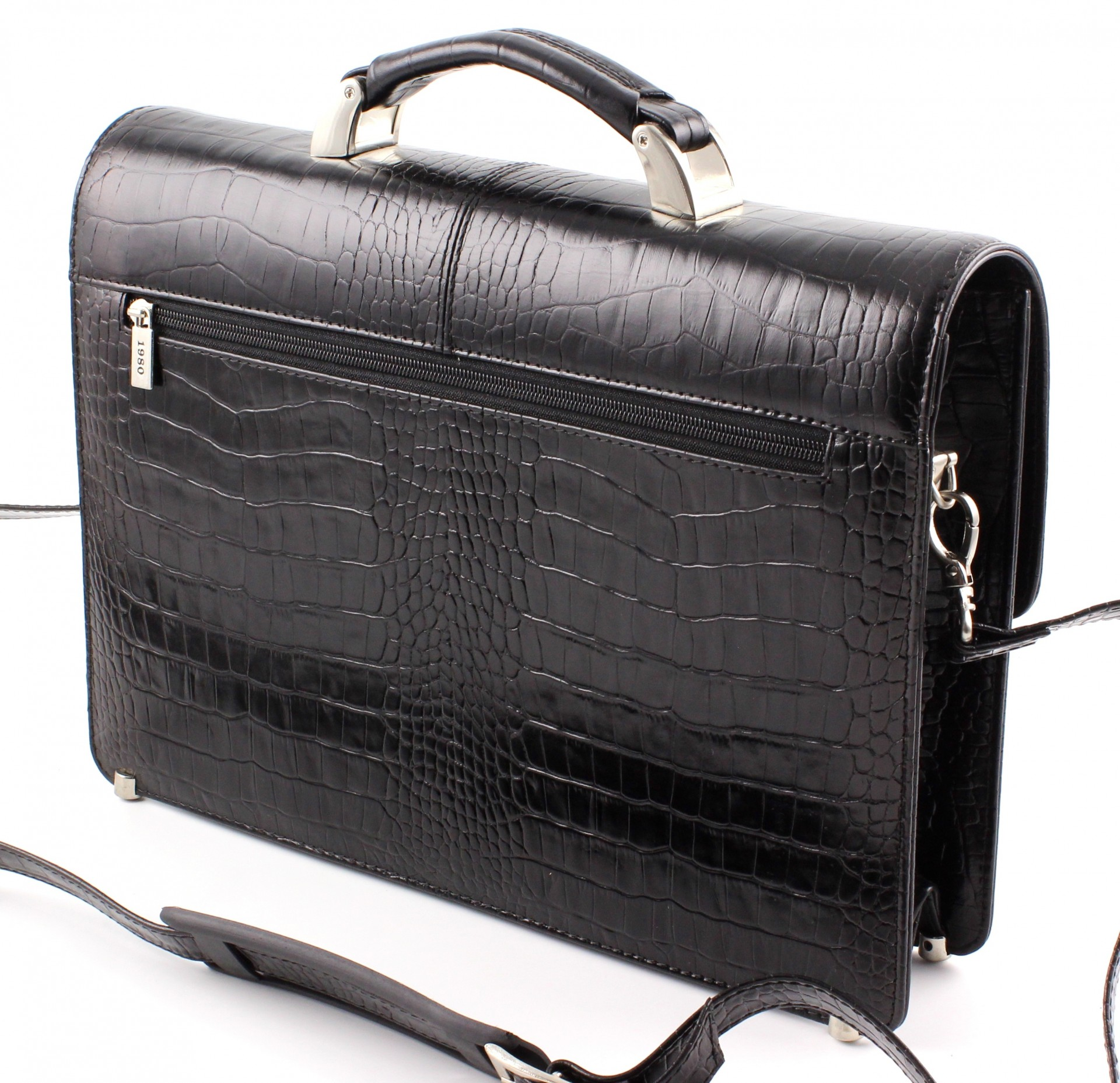 3ba030337199 ... Кожаный элитный мужской портфель турецкого производства Karya с  фактурой крокодила (10264) ...