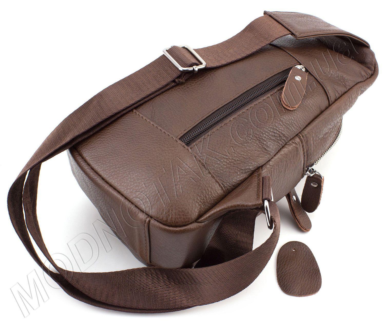 4d3d21920719 Кожаный мини рюкзак через плечо коричневого цвета Leather Collection (11521)