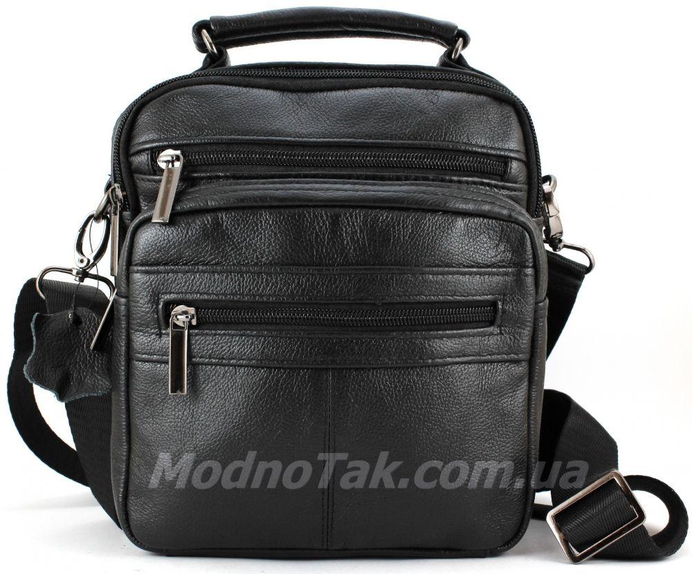 ... Кожаная мужская сумочка черного цвета Leather Bag Collection (10149) ... 827301cde896a