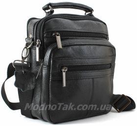 302b6de4e70f Кожаная мужская сумочка черного цвета Leather Bag Collection (10149)