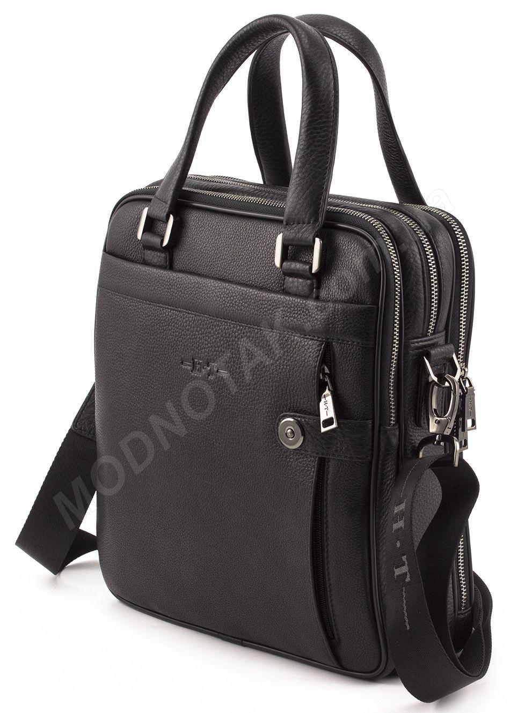 Вертикальная мужская кожаная сумка делового стиля (вмещает А4) H.T Leather  (10348) 7ef3e989c29fe