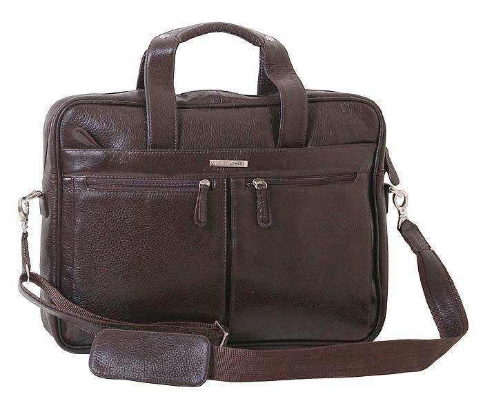 1fd84a47a79e Стильная деловая кожаная сумка коричневого цвета под ноутбук 15 дюймов от  VIP COLLECTION (0-2015)