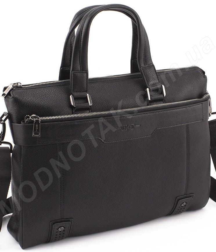 ddff7b2df003 Кожаная деловая мужская сумка под формат документов А4 размера H.T Leather  (10345)