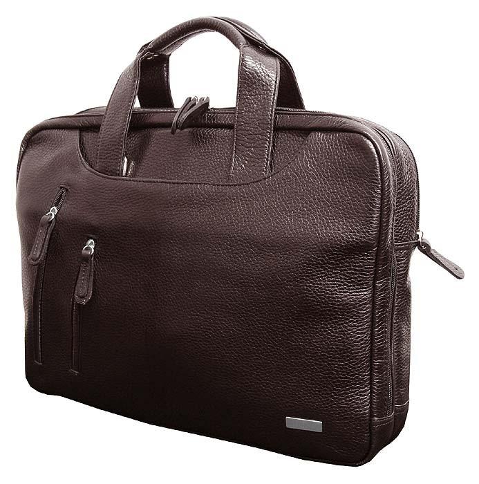 f0dedeadb4a1 Деловая кожаная сумка для документов формата А4 и ноутбука 15 дюймов от VIP  COLLECTION (0-2020)