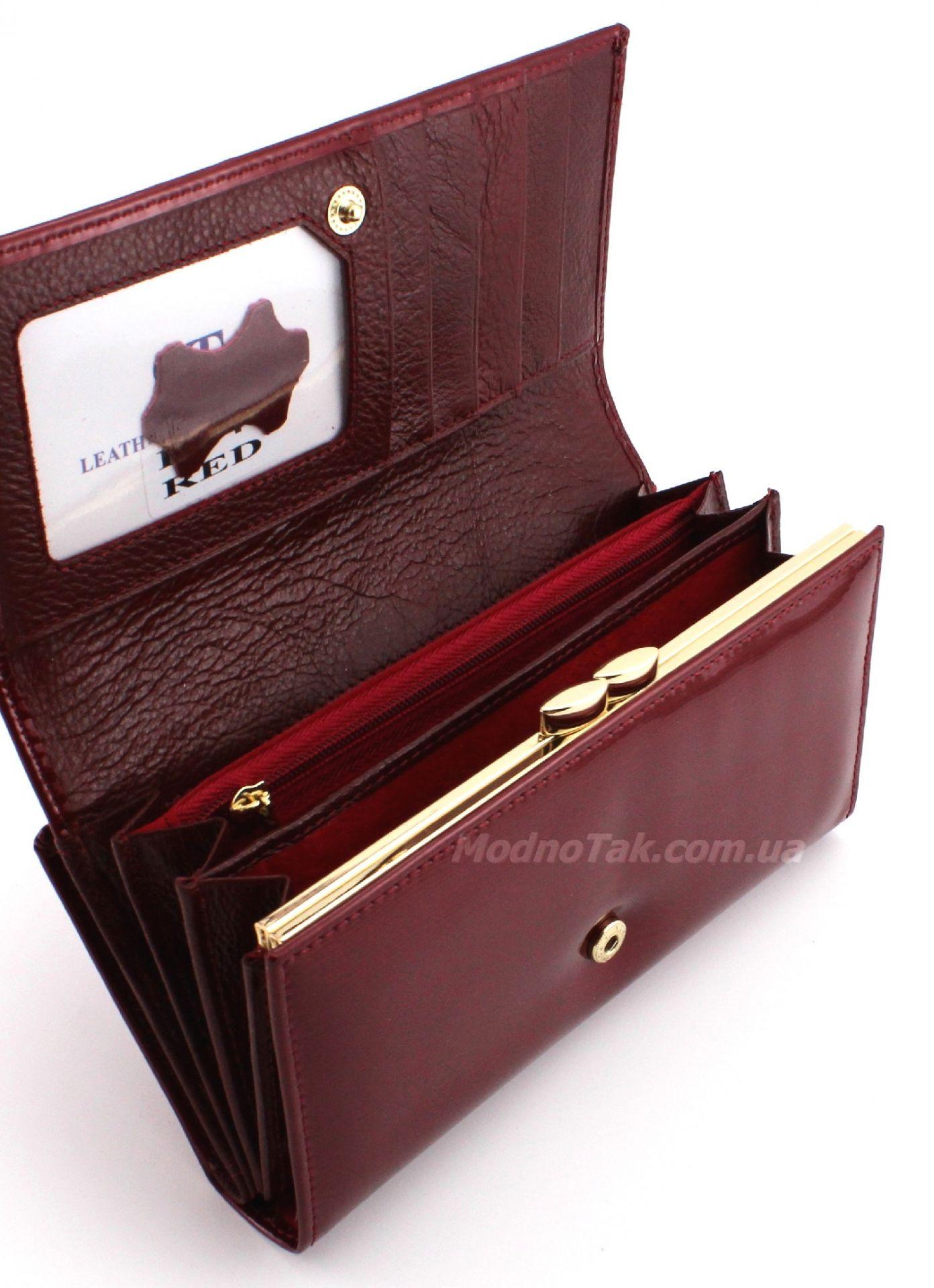Лакированный кошелек из натуральной кожи