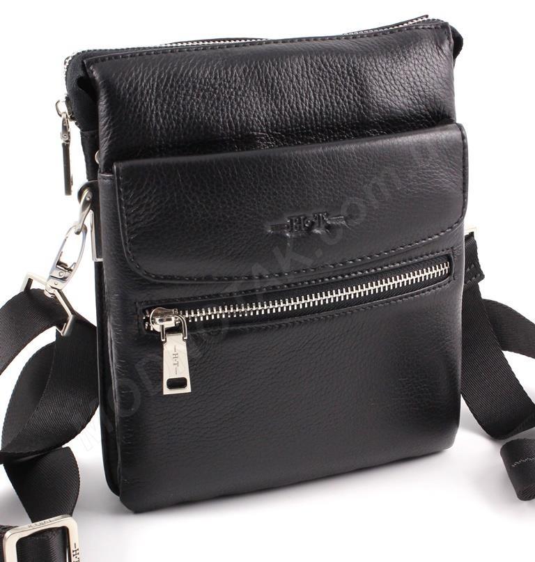 6b63daa29715 Наплечная кожаная мужская сумка средних размеров H.T Leather (49645-3)