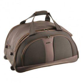 d406a04aee61 Большая дорожная сумка на колесах с выдвижной ручкой MY TRAVEL (10610  Brown) 66х38х40 см