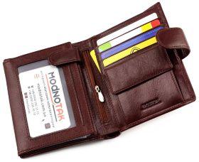 6ec2f0c43a27 ... Мужской большой кошелек из гладкой коричневой кожи BOSTON (16710) - 2