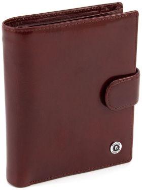 18743d20d3f4 Мужской большой кошелек из гладкой коричневой кожи BOSTON (16710) ...